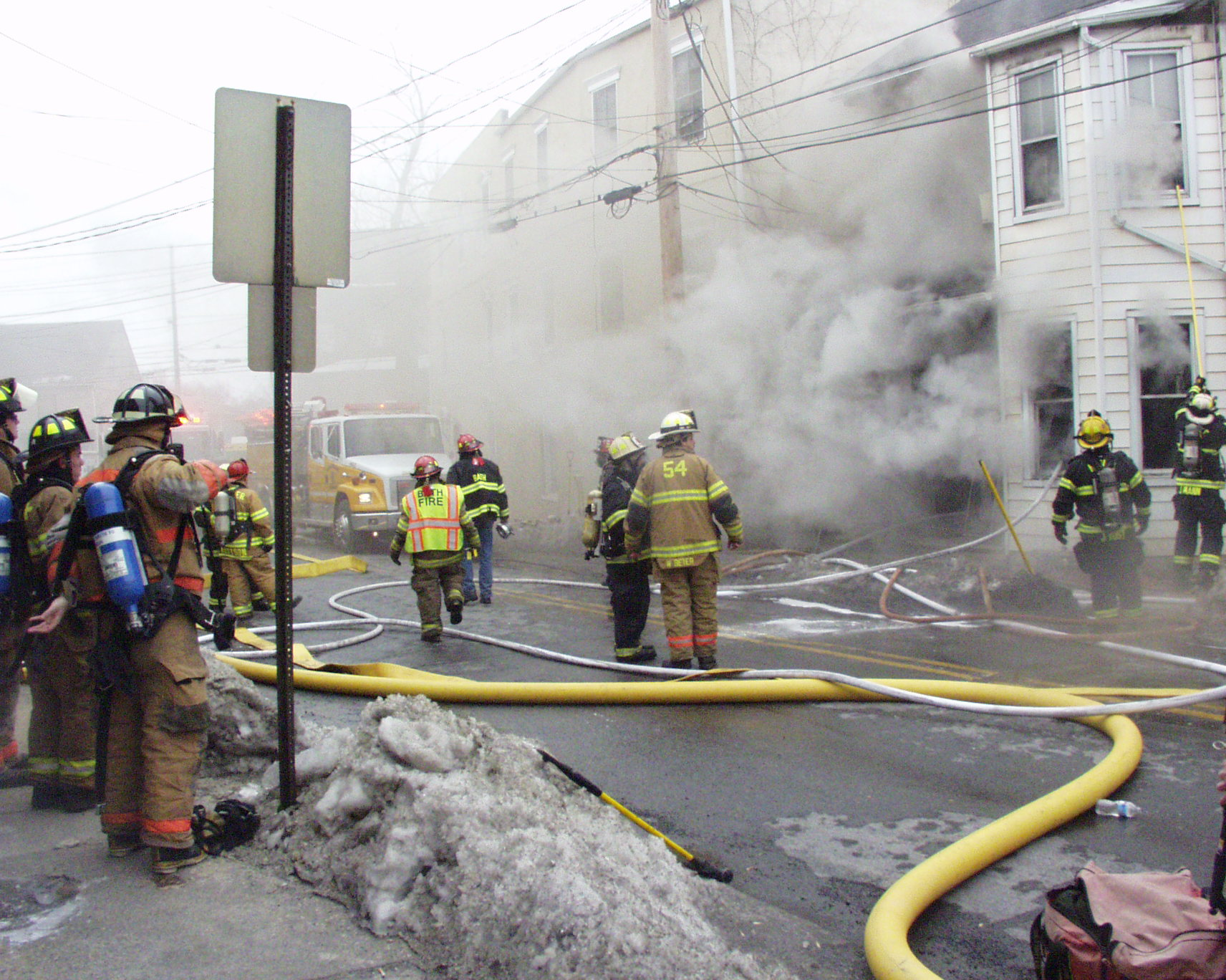 Fire Destroys Bath Home One Injury The Home News