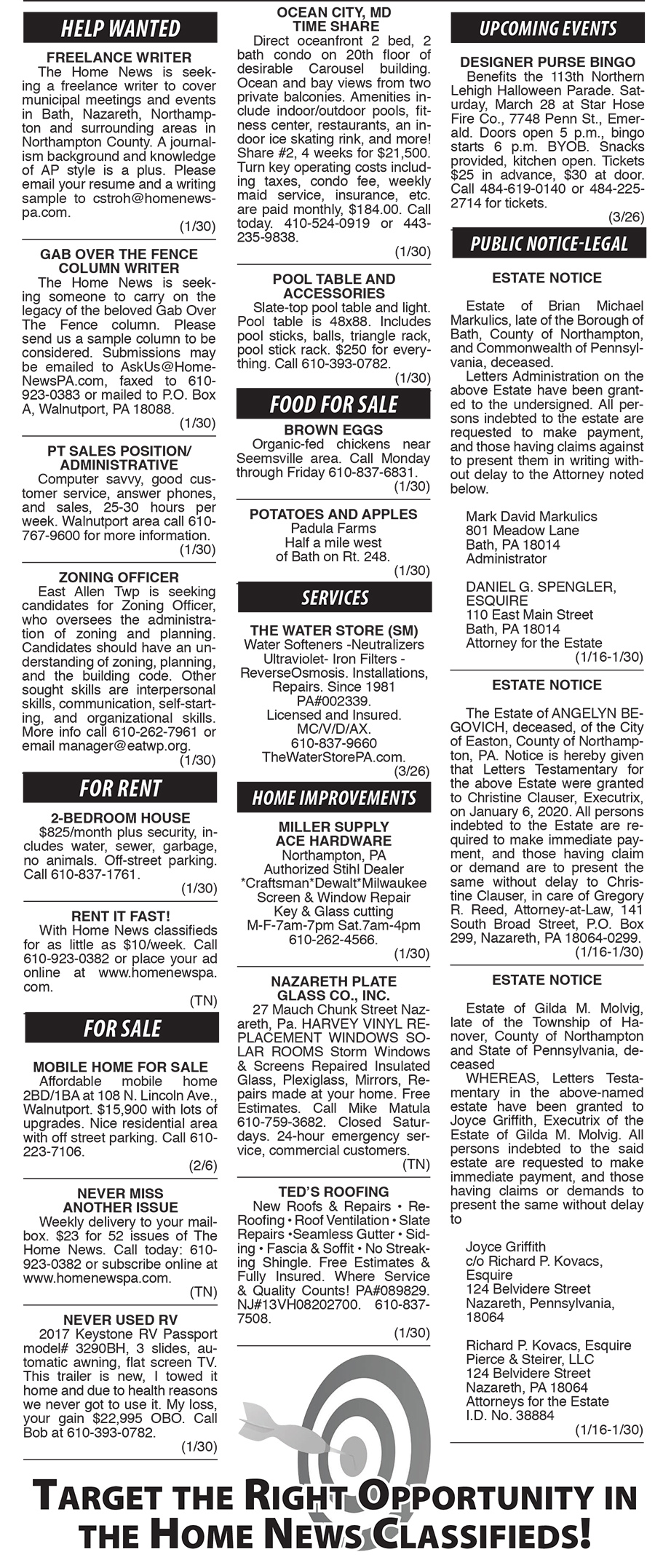 Northampton Pa Halloween Parade 2020 HN_Jan30 classifieds   The Home News