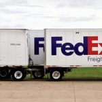 6/13/10  FedEx Freight tractor – trailer sets.